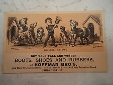 Buy Your Fall and Winter Boots, Shoes and Rubbers, Hoffman Bro's, Phila., Pa.