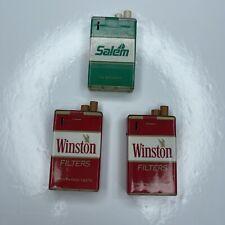 E Lot Vtg Retro Cigarette Lighters Salem Winston
