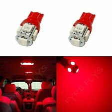 2x Red T10 168 194 2825 W5W 5 SMD LED Dome Map Cargo 2xM3