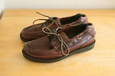 Sperry Top-Sider Men's Mako Canoe Moc Deck Boat Shoes Sz 8 Brown Leather
