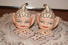 VINTAGE....ESTATE....PIXIE HEADS.....SALT & PEPPER SHAKERS