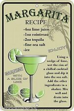 Margarita recette tin sign pub Signes Rétro signe de cocktail bar vintage tin sign