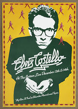 Elvis Costello My Aim Is True Guaranteed Original 1977 Bottom Line Promo Poster