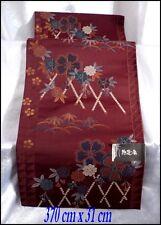 Japon : Obi en Brocard de Soie Brodée Pour Kimono Japonais Traditionnel 370x31cm