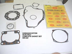 KAWASAKI 1984 1985 KXT250 TECATE ENGINE COMPLETE GASKET SET KIT HEAD EXHAUST