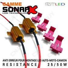 2 RESISTANCE SONAR ANTI SANS ERREUR ODB POUR AMPOULE LED P21W W21W W21/5W PY21W