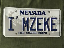 """Personalized Nevada State License Plate """"I'MZEKE"""""""