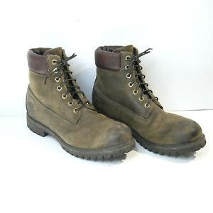 Timberland PRO AF 6 Inch 6063R Men's Boots Dark Brown / Olive Mens 10 M 7 Eyes