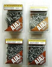 Galvanised Fencing Staples U Nails - Assorted Sizes Bulk Lot - choose Size & Qty