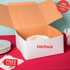 Paperboard Bakery Box Cake Cupcake Cookie Square 100 Boxes Bundle 12