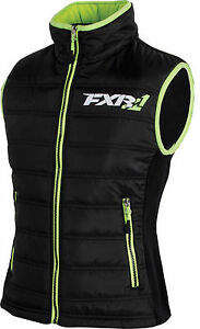 FXR WOMENS BLACK / LIME BLOCK HEATER INSULATED VEST - Sizes 4  or  8  -  NEW