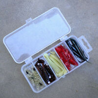 Plastic Fishing Lure Bait Box Storage Organizer Container Case Transparent 5Slot
