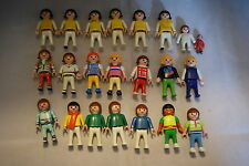 Playmobil 22 figures lot children kids boys girls babies