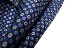Fazzoletto da taschino uomo blu azzurro grigio perla micro fiore bulbo rosso