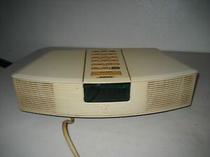 Bose Vintage Wave Radio AWR1-1W Stereo Off White USA Made Tested No Remote
