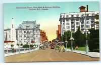 Government Street Victoria BC Canada Belmont Building Post Office Postcard E13