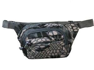 Camo Fanny Pack Waist Side Crossbody Bag - Rave Music Festival Tactical Bum Bag