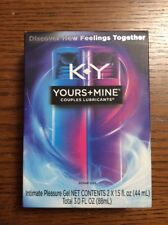 K-Y Yours+Mine Couples Lubricants NIB exp Date Is 09/2019 Free Shipping!