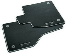NEW GENUINE AUDI TT MK3 LEFT HAND DRIVE FRONT LUXURY BLACK CARPET MATS SET