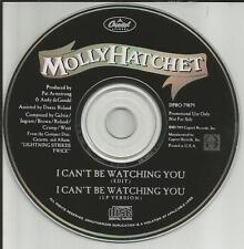 MOLLY HATCHET I can't be watching you w/ RARE EDIT PROMO DJ CD single 1989 USA