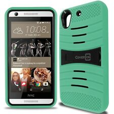 for HTC Desire 626 / 626S Case - Teal / Black Hybrid Tough Skin Phone Cover
