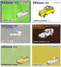 CITROEN 2CV – DYANE – AMI 8  - MANUALE USO E MANUTENZIONE!  DRIVER'S HANDBOOK!!