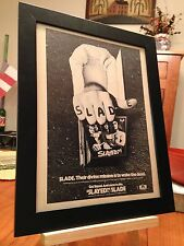 "FRAMED ORIGINAL & RARE SLADE ""SLAYED?"" 1970's LP ALBUM CD PROMO AD"