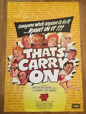 That's Carry On! 1977 Original British Comedy Film Poster Sid James