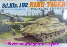 262: Dragon Modellbausatz Sd.Kfz.182 KING TIGER (Porsche Turret) 1:35, NEU