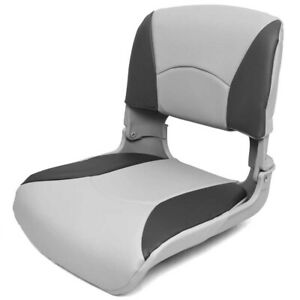 Deluxe Boat Folding Seat 75113GC | All Weather Gray Charcoal