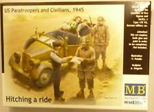 MB 1/35 Hitching a Ride U.S. Paratroopers and Civilians German Army car