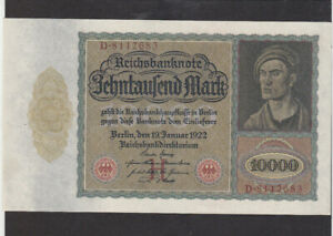 10 000 MARK AUNC CRISPY BANKNOTE FROM  GERMANY 1922 PICK-70 HUGE SIZED