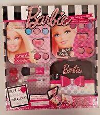 Barbie on the go Palette Make Up Kit Gift Set Girls Cosmetics Case Beauty Travel