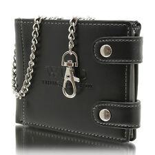 NEU Geldbörsen Biker Wallet Brieftasche mit Kette Herren Portemonnaie schwarz