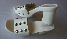 The Leather Collection Leather White Spike Heel Shoes Sz 8
