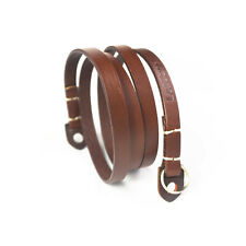 LeaTure Brown Camera Neck Strap Geniune Leather Universal for Sony, Nikon, Canon