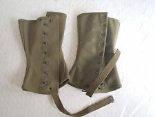 1945 WW2 US Army or Marine Corps Canvas Leggings  Gaiters Size 2