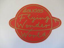 alte Aufkleber : LAUDAS Flying Wonder World - alte Werbung - Reklame