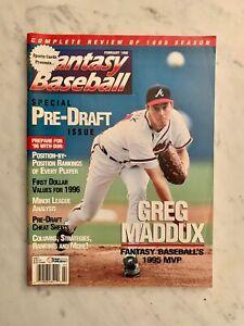 Fantasy Baseball Magazine Pre-Draft Issue Greg Maddux February 1996