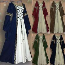Femmes Vintage Medieval Dress Cosplay Costume Princess Renaissance Gothique Robe