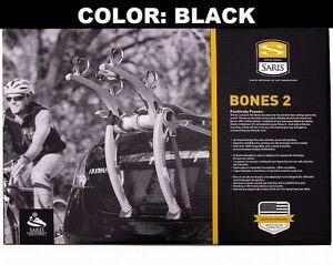 Saris BONES 2 Bike BLACK Car Trunk Rack Bicycle Carrier USA Lifetime Warranty