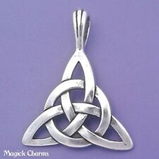 925 Sterling Silver TRIQUETRA Pendant Celtic Knot CIRCLE Of LIFE - 9684