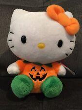 "Ty Beanie Babies Hello Kitty Halloween Pumpkin 6"" NWT"