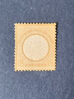 1872 Germany Empire ,18KR,LARGE BREASTSHIELD