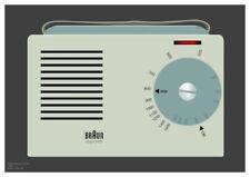 Braun Exporter 2 Radio graphic design giclée print size A3