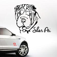 AWILPORT Auto Aufkleber SHAR PEI Portrait Hund Hunde WILSIGNS Siviwonder