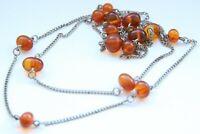 Vintage Amber Baltic Honey Round Beads Necklace 9.4 gram 波羅的海琥珀