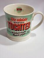 Tasse Tochter Becher Kaffeetasse Retro Design H&H Porzellan Geschenk
