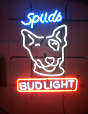 "New Bud Spuds Mackenzie Neon Light Sign 17""x14"" Man Cave Beer Real Glass"