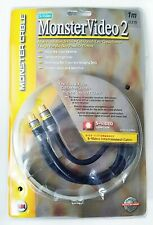 MVSV2-1M EU S-Video Interconnect High Resolution Cable 1m Monster Cable NEW